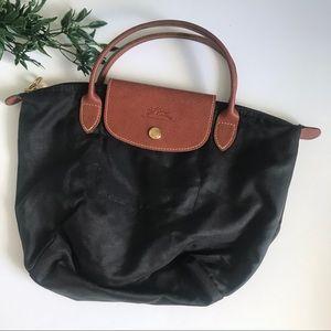 Longchamp Le Pliage Small Black Tote Bag